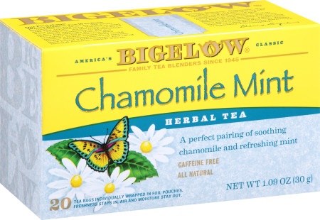 Chamomile Mint Herbal Tea - Case of 6 boxes - total of 120 tea bags