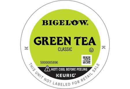Lid ofr Bigelow Green Tea K-Cups for Keurig