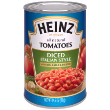 Heinz Italian Style Diced Tomatoes 14.5 oz Can
