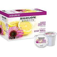 Benefits Lemon and Echinacea Herbal Tea K-Cup® pods - Case of 6 boxes- total of 60 K-Cup® pods
