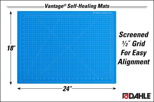 "Dahle Vantage® 18"" x 24"" Self-Healing Cutting Mat, Blue - InfoGraphic"
