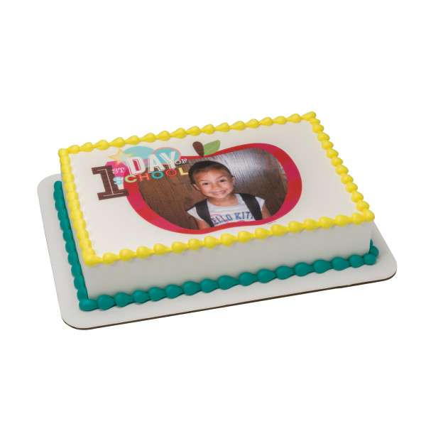 First Day of School Red PhotoCake® Edible Image® Frame