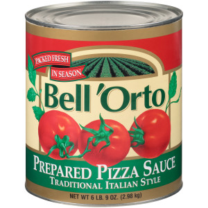 BELL ORTO Fully Prepared Pizza Sauce, 105 oz. Can (Pack of 6) image