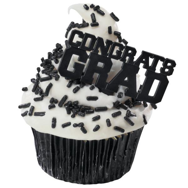 Black Congrats Grad DecoPics®