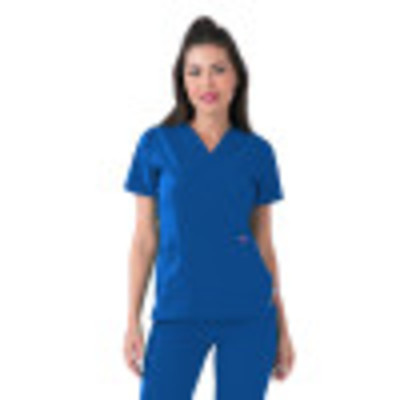 Smitten Miracle ROCK GODDESS Scrub Top for Women - 3 Pocket, Contemporary Slim Fit, Super Stretch, , V-Neck Medical Scrubs S101002-