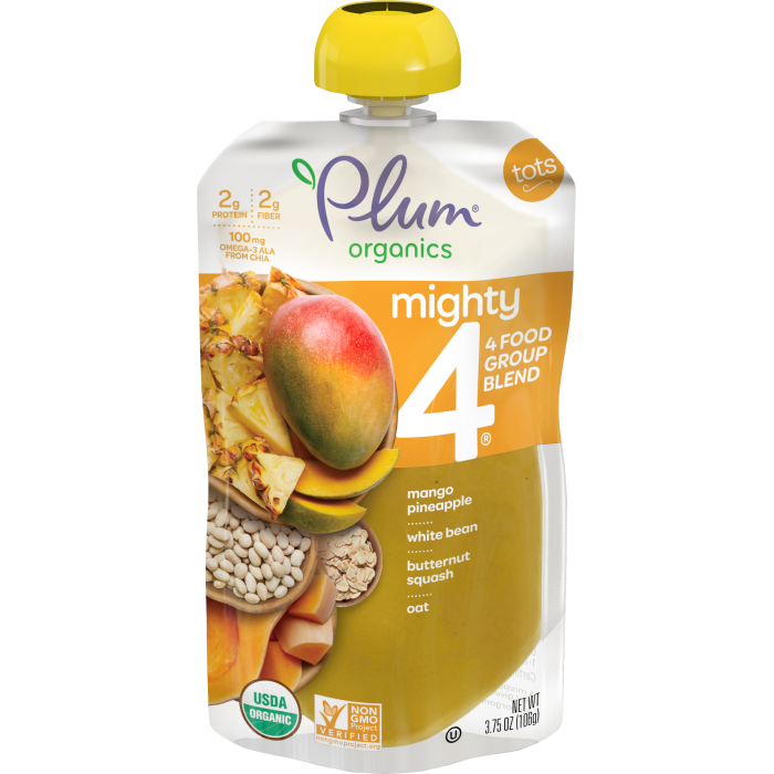 Blends Mango & Pineapple, White Bean, Butternut Squash, Oats Tots Pouch