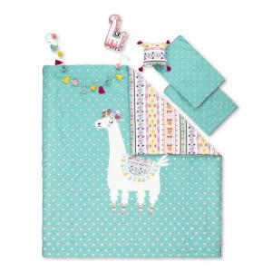 Dreamit - Ens. literie enfant Lama Festif
