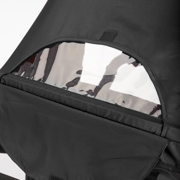 2-position sun canopy with peek-a-boo window