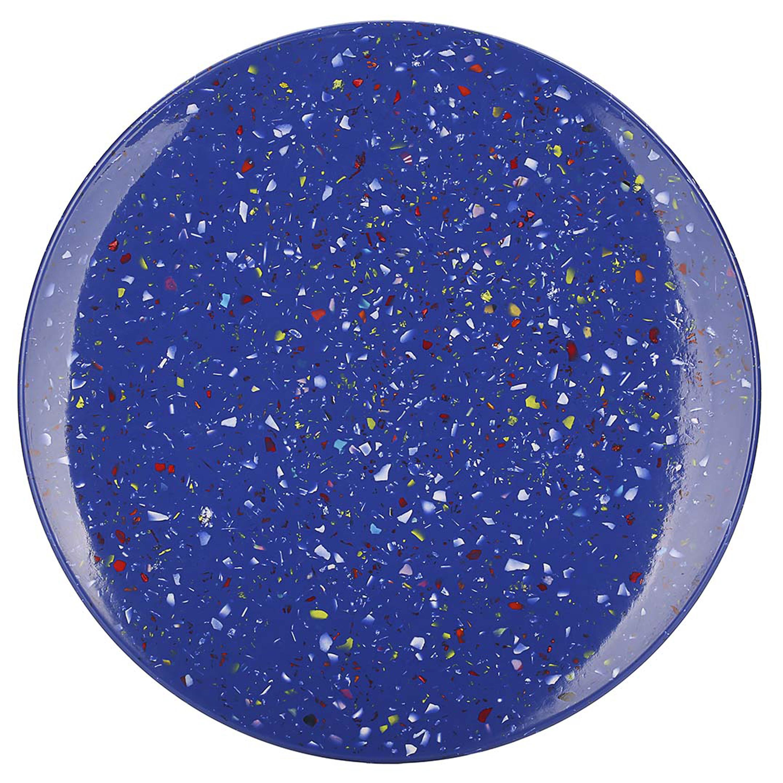 Confetti Salad Plate, Blue slideshow image 8