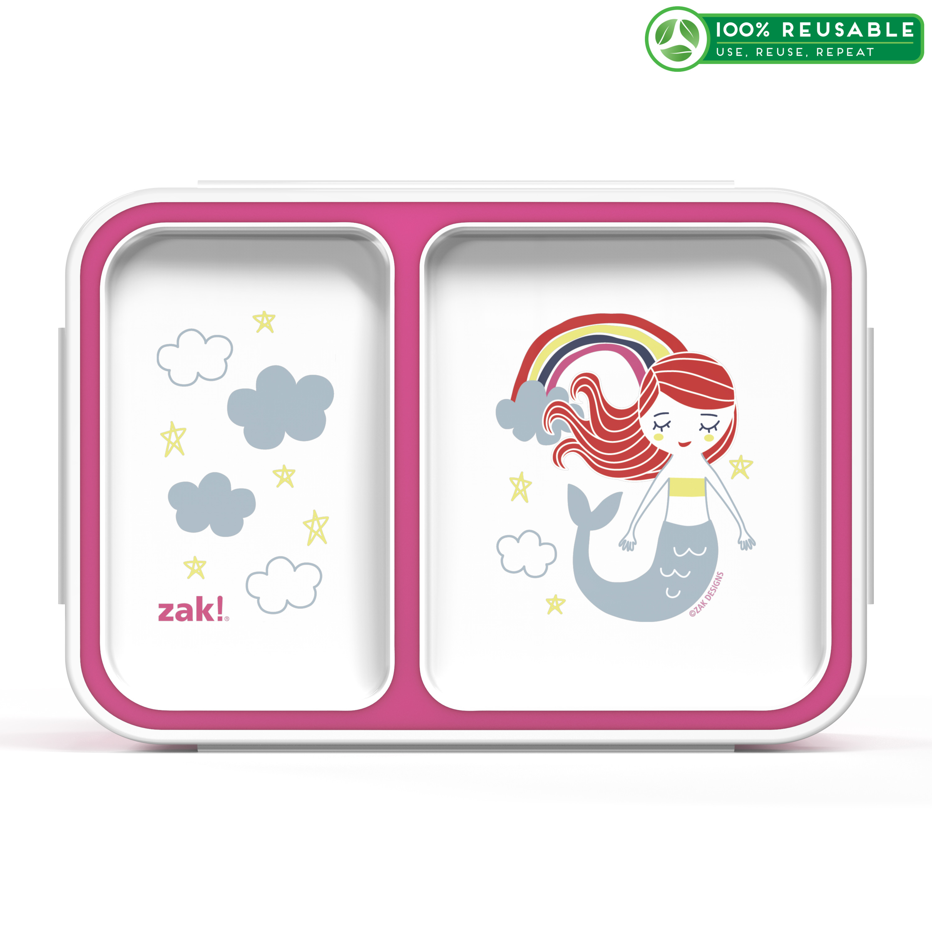 Happy Things Dual-compartment Reusable Bento Box, Mermaids slideshow image 1