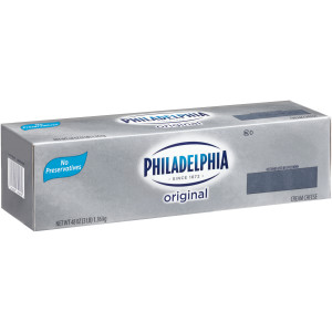 PHILADELPHIA Original Cream Cheese, 3 lb. Loaf (Pack of 6) image