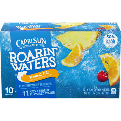 Capri Sun Roarin' Waters Tropical Tide 10 - 6 fl oz Pouches