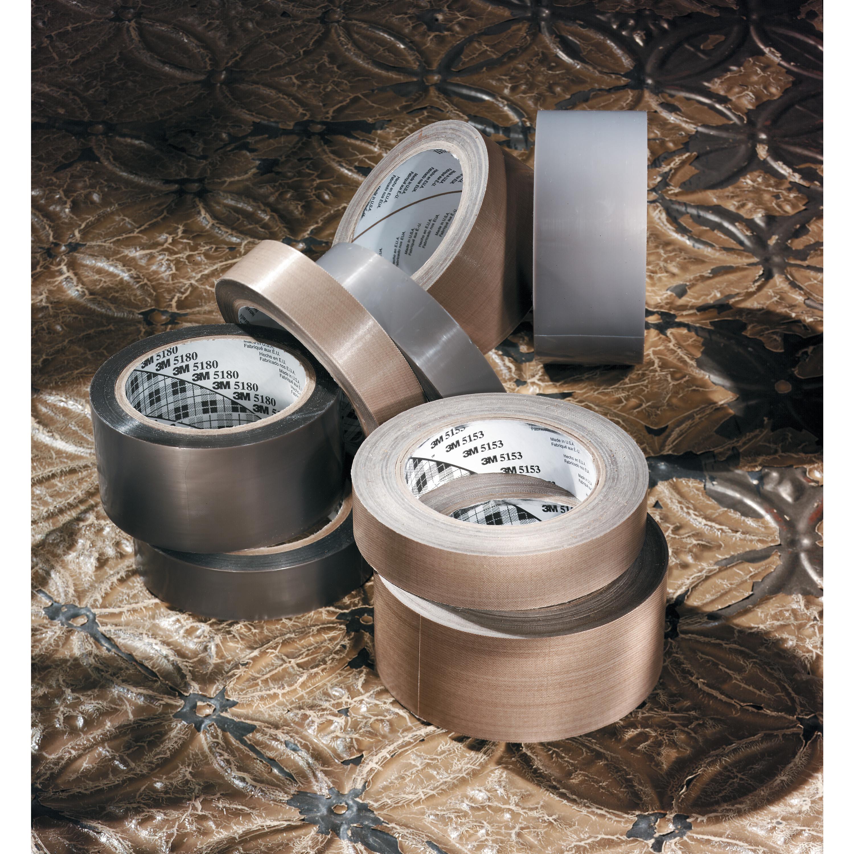 3M™ General Purpose PTFE Glass Cloth Tape 5151, Light Brown, 19 1/2 in x 36 yd, 5.3 mil, 2 rolls per case