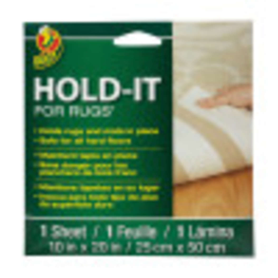 Duck® Brand Hold-It For Rugs™ - White, 10 in. x 20 in. Image