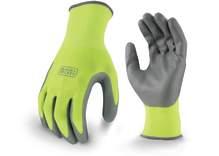 BLACK+DECKER BD514 High Visibility Foam Nitrile Grip Glove