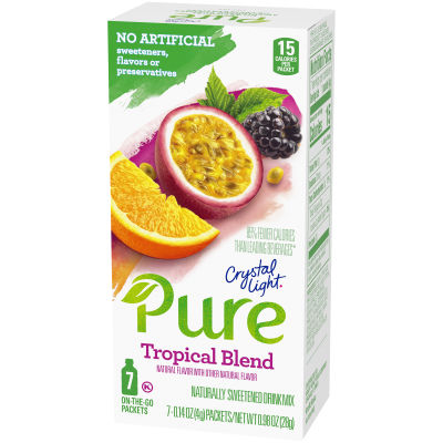 Crystal Light Pure Tropical Blend On-The-Go Powdered Drink Mix 7 - 0.14 oz Packets