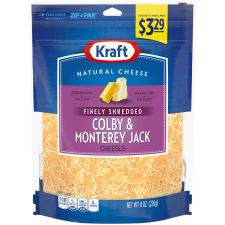 Kraft Colby & Monterey Jack Finely Shredded Natural Cheese 8 oz Pouch