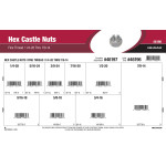 "Fine-Thread Hex Castle Nuts Assortment (1/4""-28 thru 7/8""-14)"