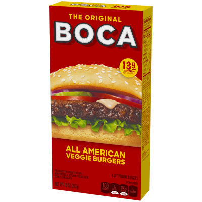 Boca All American Flame Grilled Burgers 4 count Box