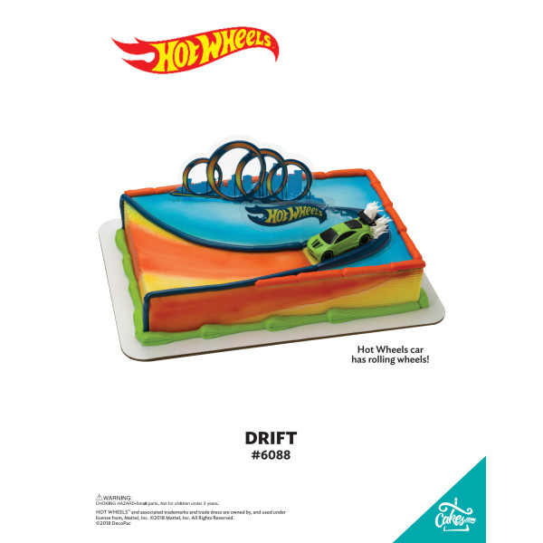 Hot Wheels™ Drift DecoSet® The Magic of Cakes® Page