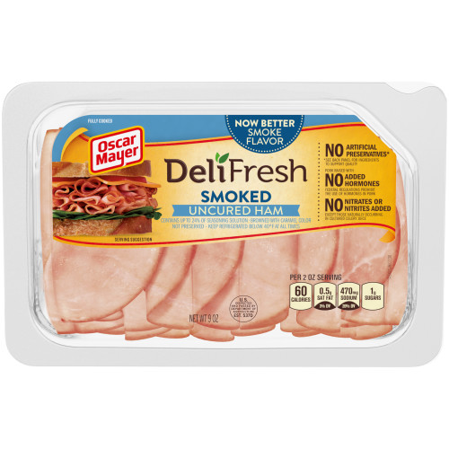Oscar Mayer Deli Fresh Smoked Ham 9 oz Tray