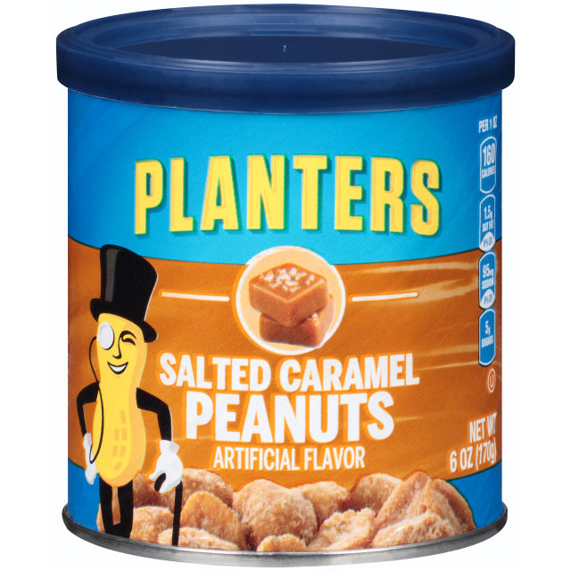 PLANTERS Salted Caramel Peanuts 6 oz Can image