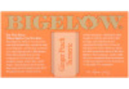 T of Ginger Peach Turmeric Herbal Tea box