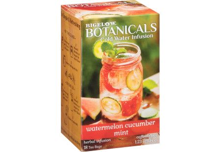 Watermelon Cucumber Mint Cold Water Infusion Caffeine Free Herbal Tea-Case of 6 Boxes