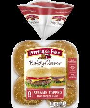 Pepperidge Farm® Sesame Topped Hamburger Buns