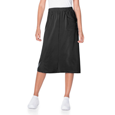 Landau ProFlex Skirt for Nurses: Modern Tailored Fit, Elastic Waist, A-Line Stretch 2227-