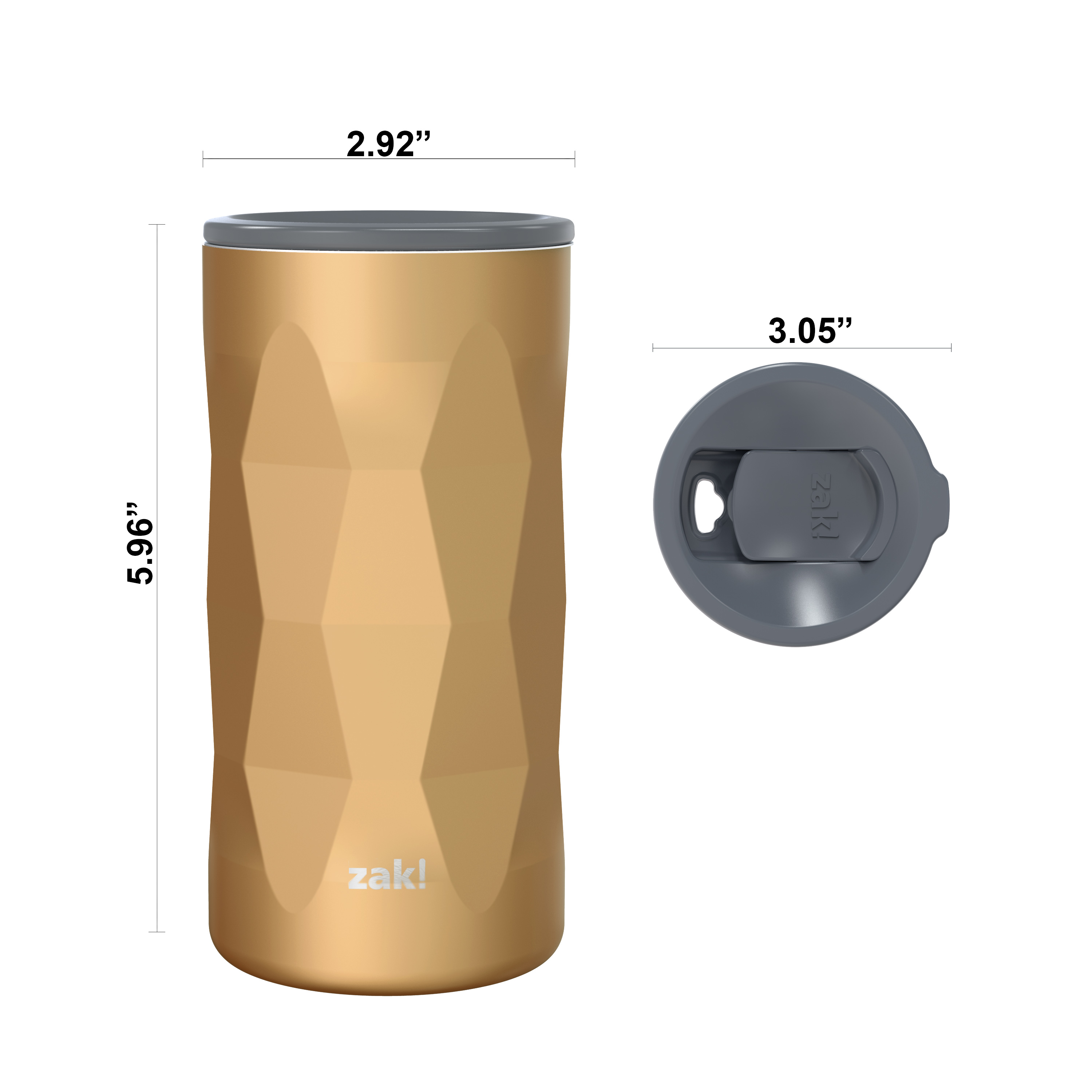 Fractal 12 ounce Vacuum Insulated Stainless Steel Tumbler, Copper slideshow image 9