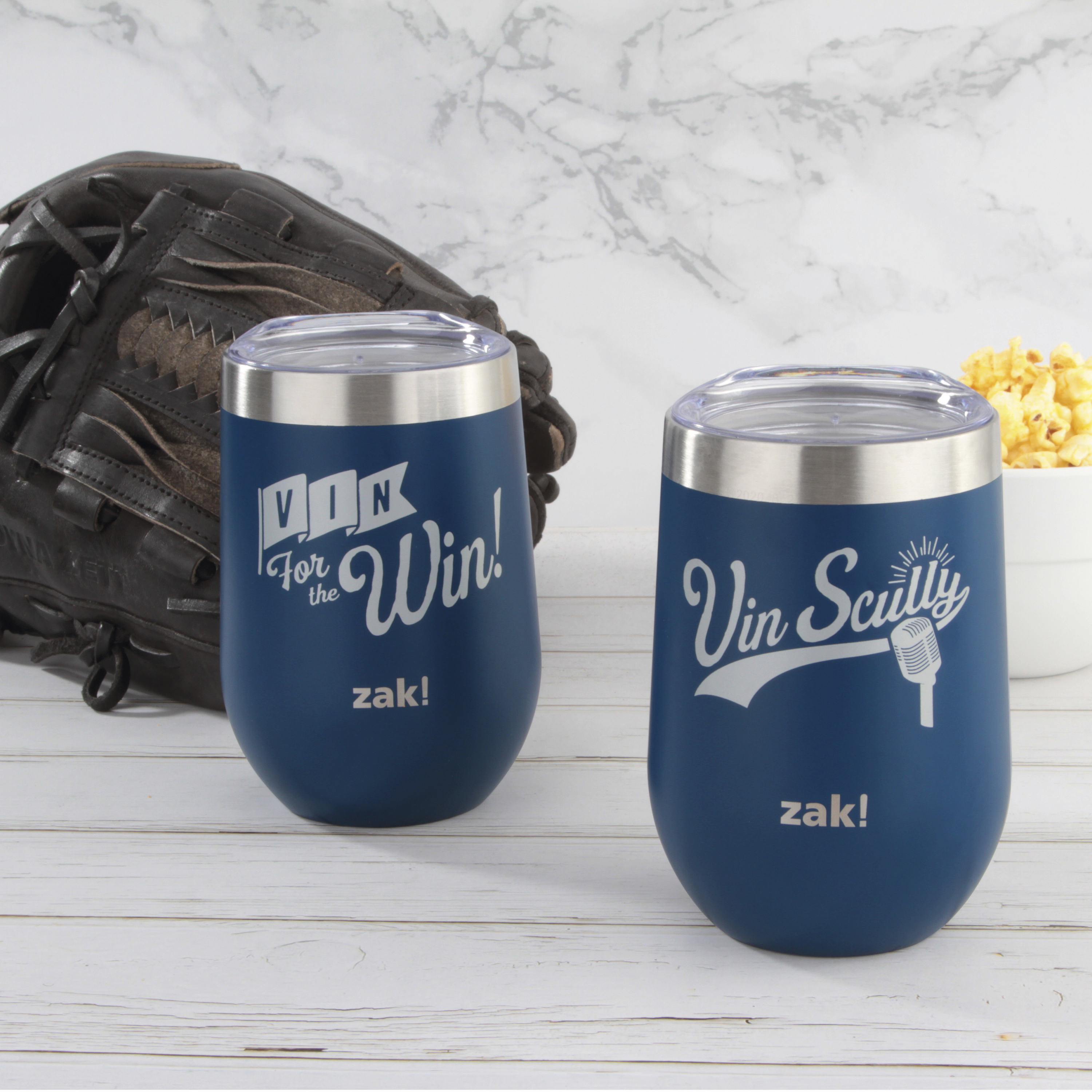 Zak Hydration 11.5 ounce Insulated Stainless Steel Tumbler, Vin Scully, 2-piece set slideshow image 3