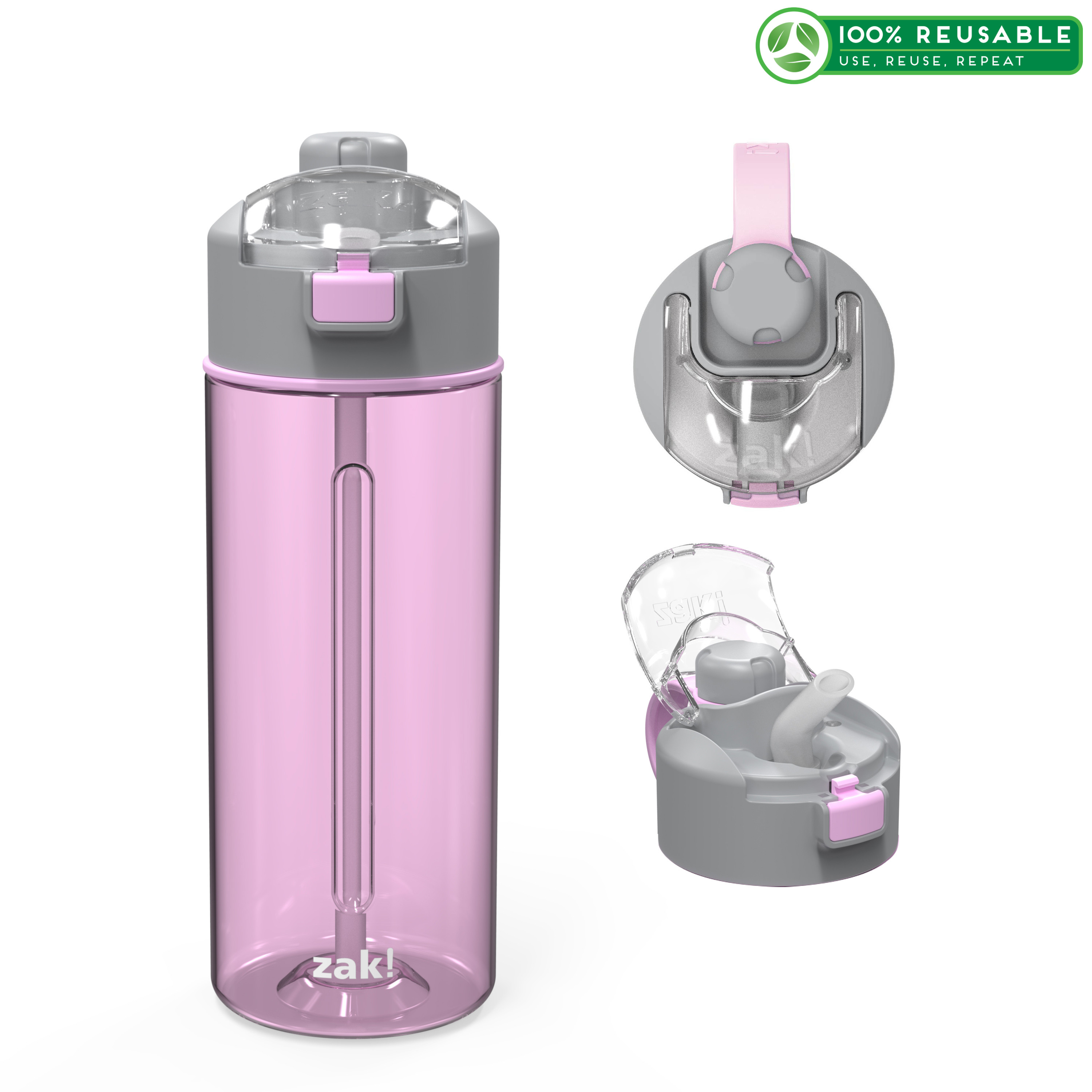 Genesis 24 ounce Water Bottle, Lilac slideshow image 1