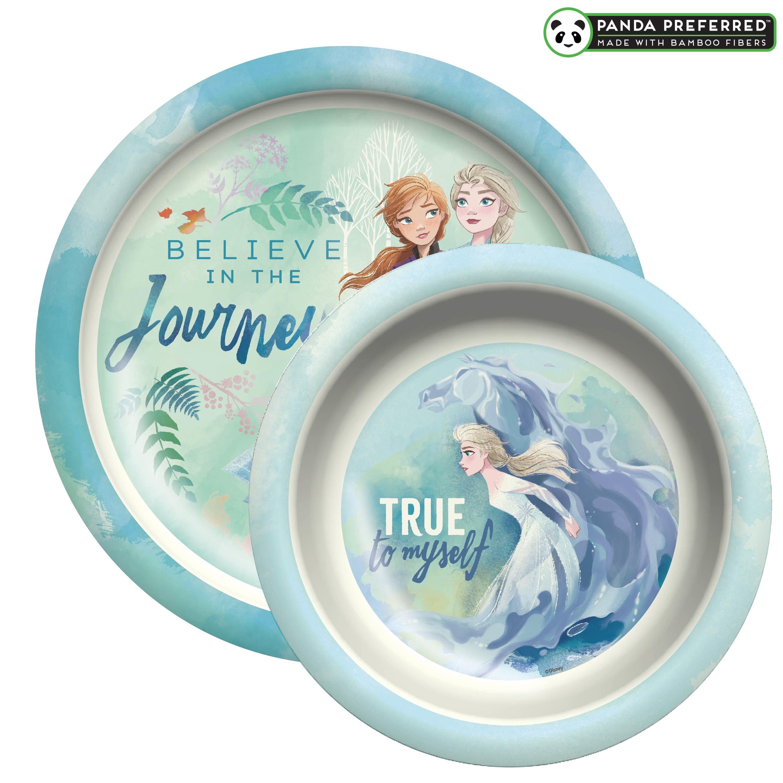 Disney Frozen 2 Movie Kids Plate and Bowl Set, Anna & Elsa, 2-piece set slideshow image 1