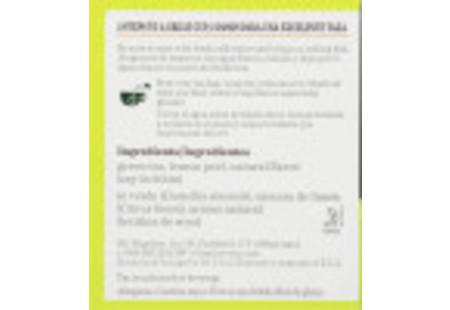 Ingredient panel of Green Tea with Lemon Tea box bilingual packaging