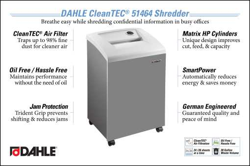 DAHLE CleanTEC® 51464 Office Shredder InfoGraphic