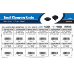 "Small Clamping Knobs Assortment (1/2"" Thru 1"" Diameter)"