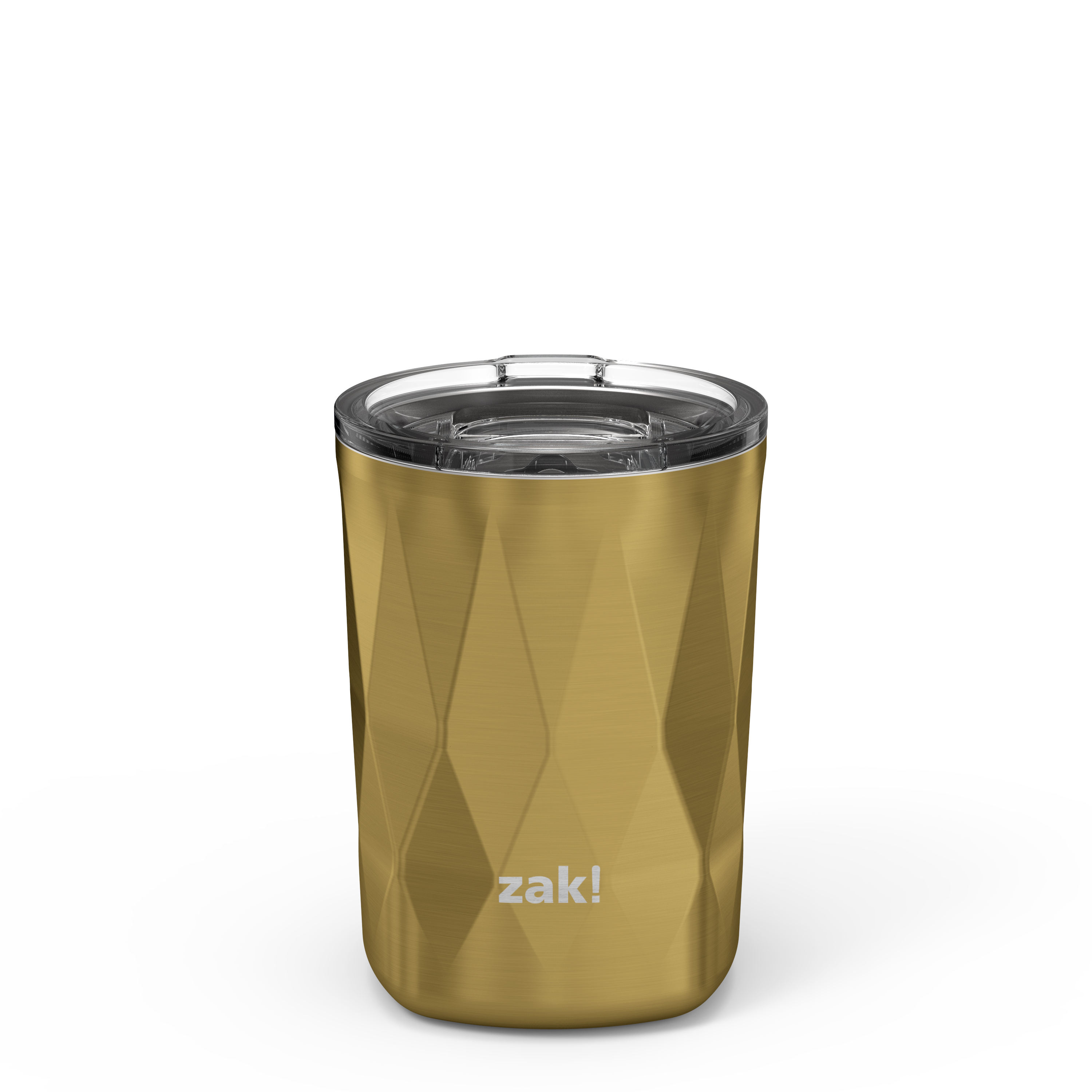Fractal 13 ounce Vacuum Insulated Stainless Steel Tumbler, Light Gold slideshow image 1