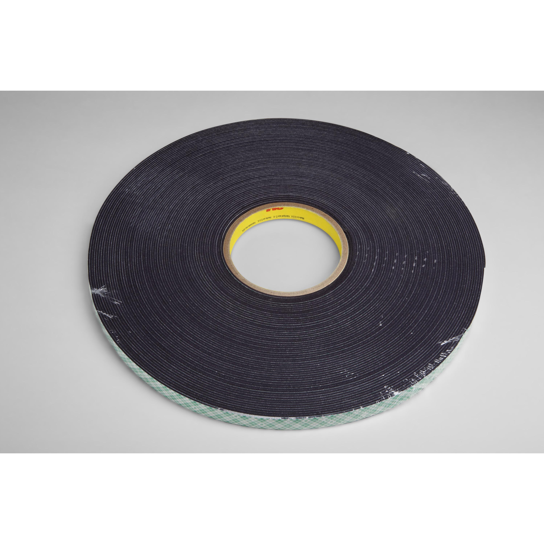 3M™ Double Coated Urethane Foam Tape 4056, Black, 3/4 in x 36 yd, 62 mil, 12 rolls per case