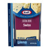 Kraft Extra Thin Swiss Natural Cheese Slices 14 slices