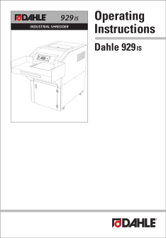 Dahle PowerTEC® 929 IS Shredder User Guide
