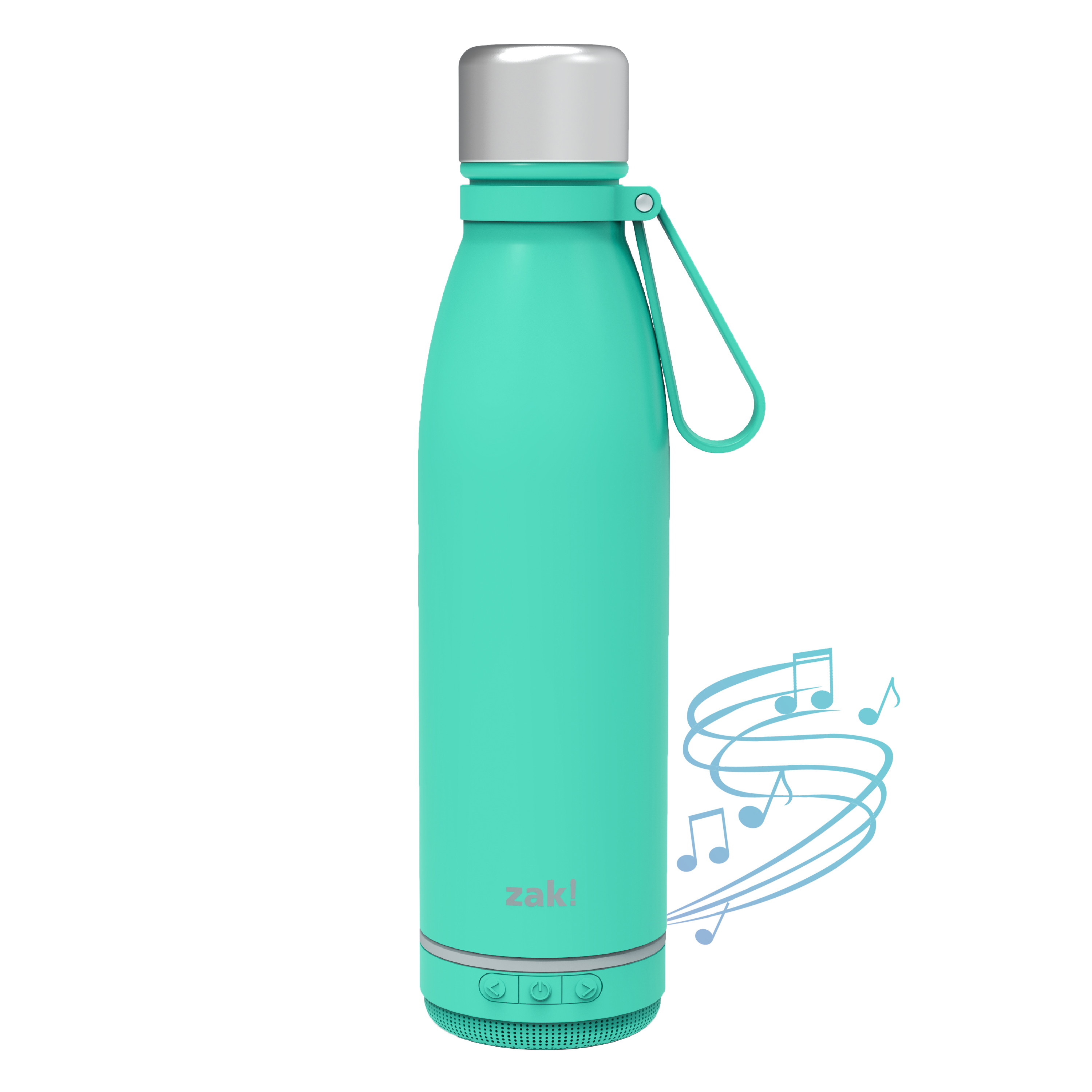 Zak Play 17.5 ounce Stainless Steel Tumbler with Bluetooth Speaker, Teal slideshow image 2