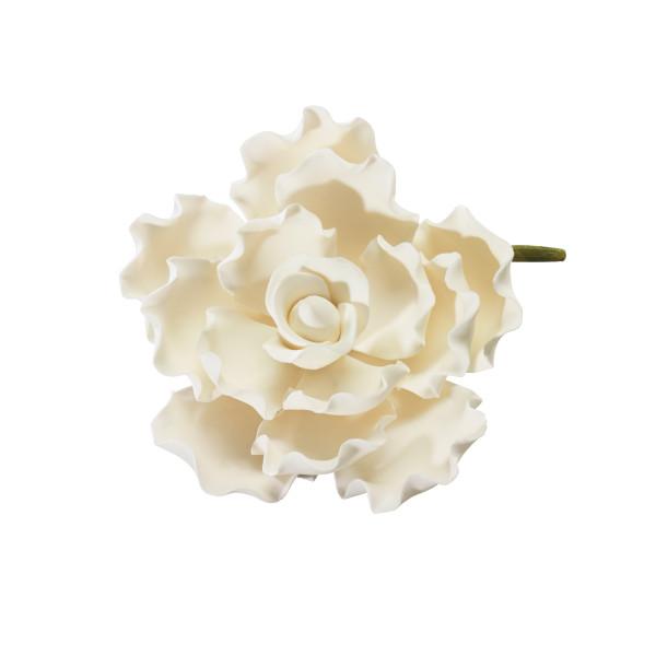 """White Ruffled Petal 4"""" Gum Paste Flowers"""
