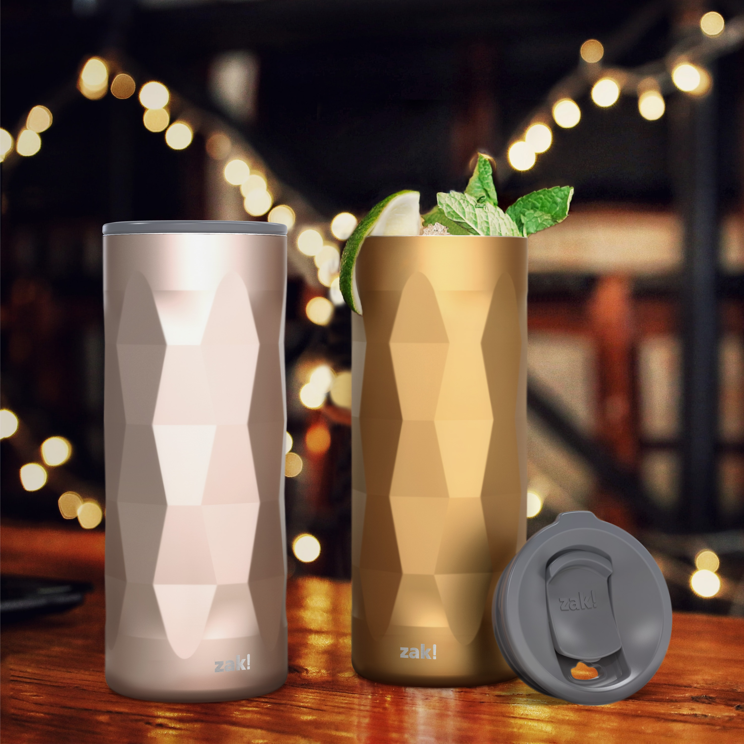 Fractal 16 ounce Vacuum Insulated Stainless Steel Tumbler, Copper slideshow image 3