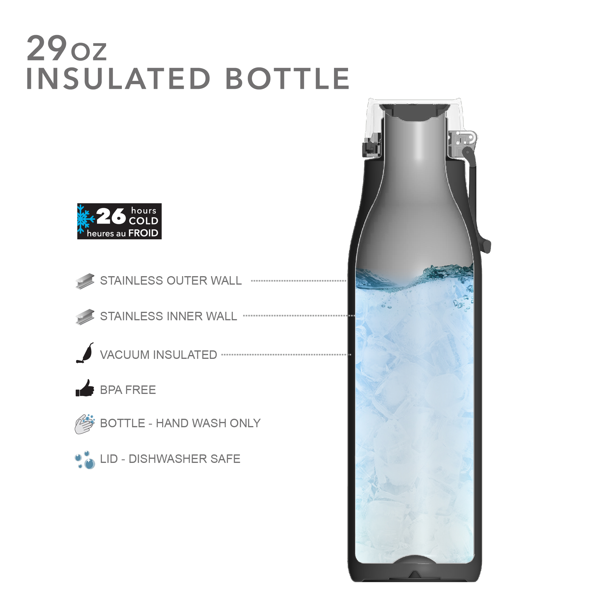 Kiona 29 ounce Vacuum Insulated Stainless Steel Tumbler, Indigo slideshow image 7