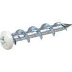 WALLDOG Screw & Anchor In One! White Pan Head Phillips