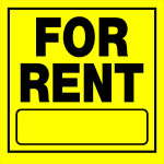 "For Rent Sign (11"" x 11"")"