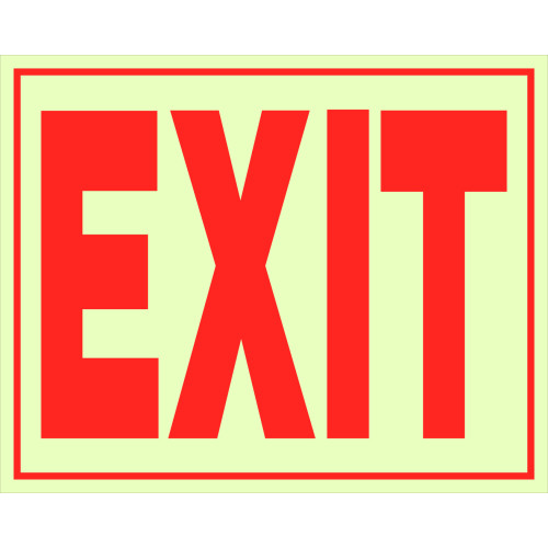 Glow-in-the-Dark Exit Sign 8