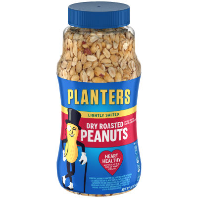 Planters Lightly Salted Dry Roasted Peanuts, 16 oz Jar