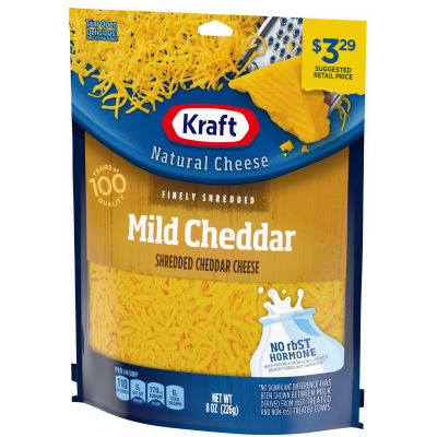 Kraft Mild Cheddar Finely Shredded Natural Cheese 8 oz Pouch